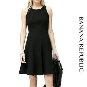 Banana Republic Sleeveless Fit Flare Stretch Dress